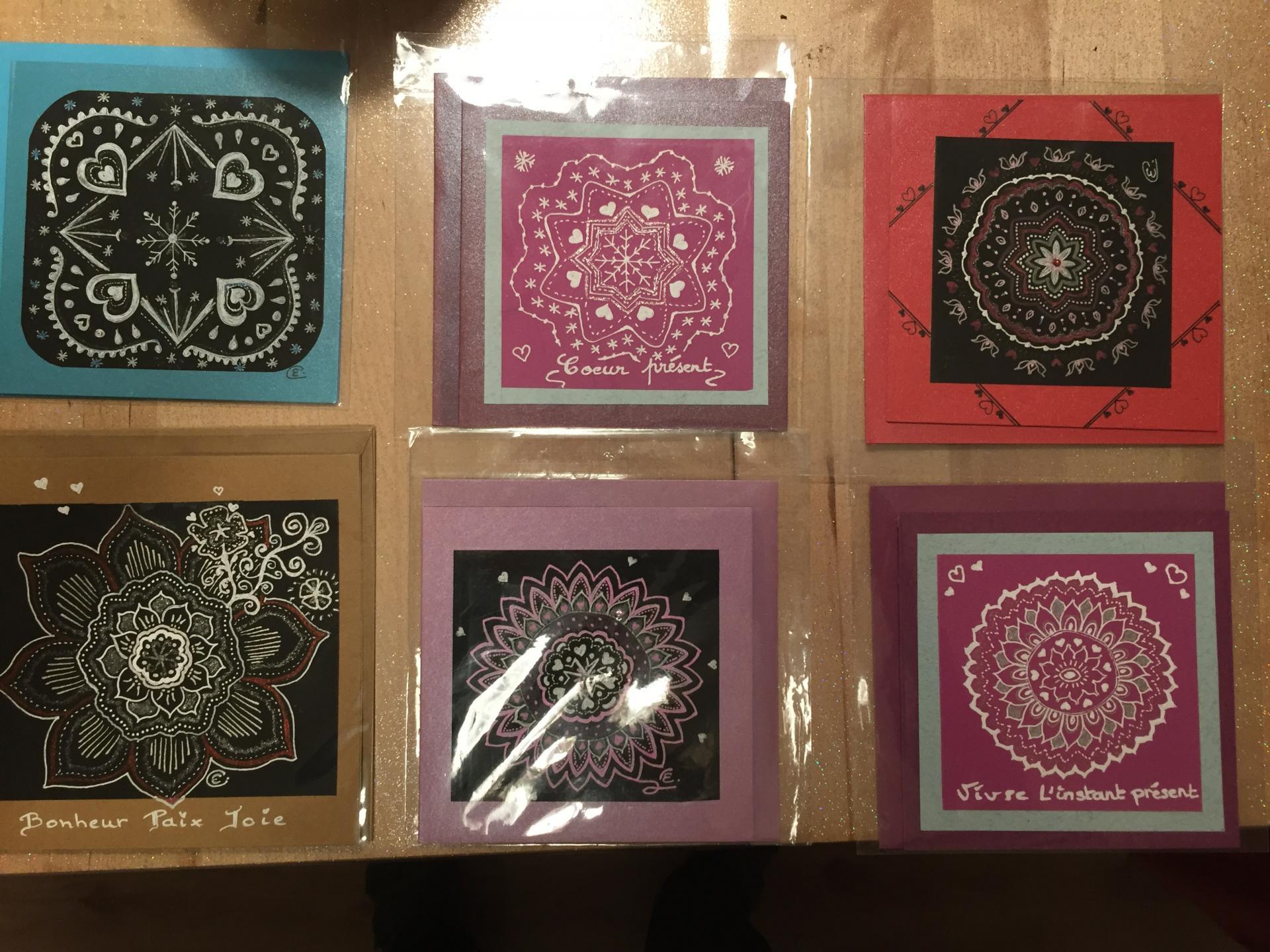 Cartes doubles uniques avec enveloppe