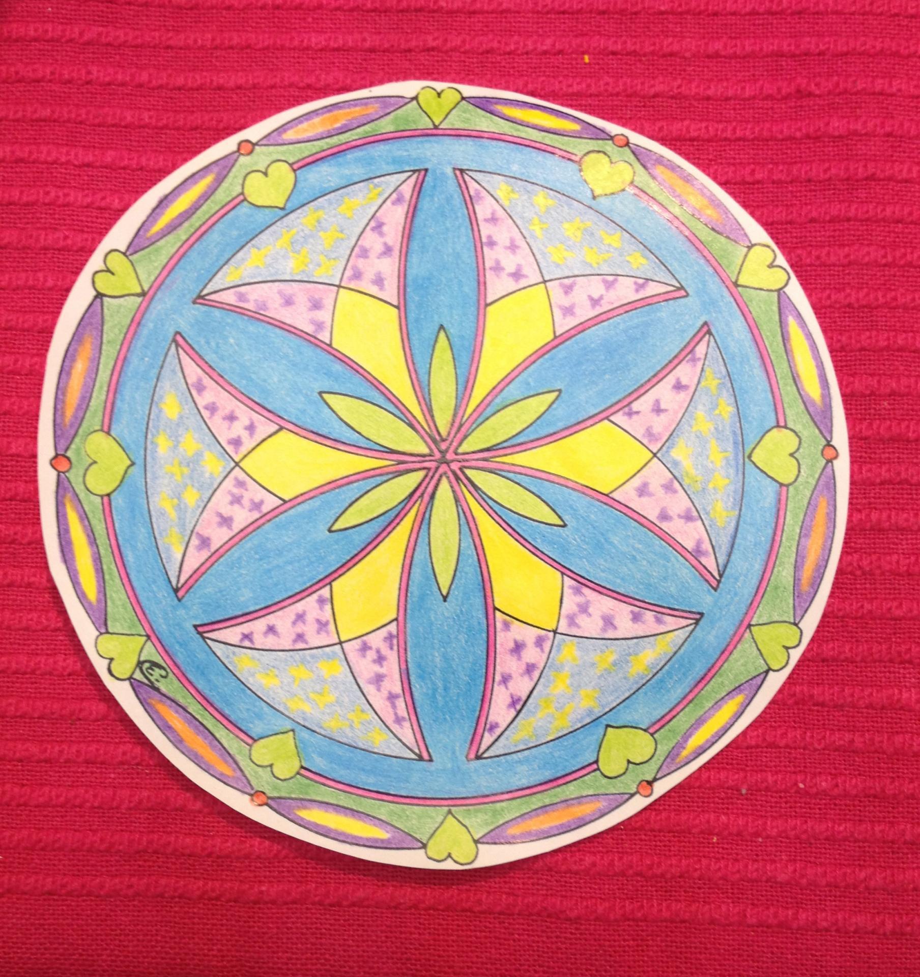 2017 06 17 Mandala Colorié par Odile