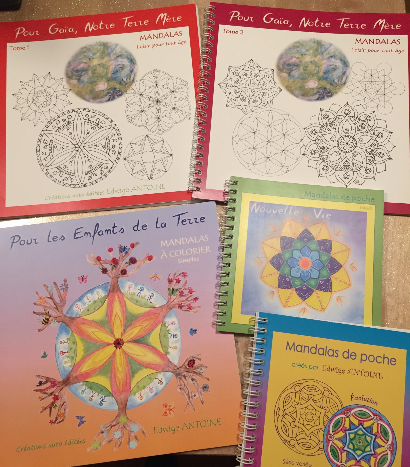 5 autres Livrets de Mandalas à colorier dispos