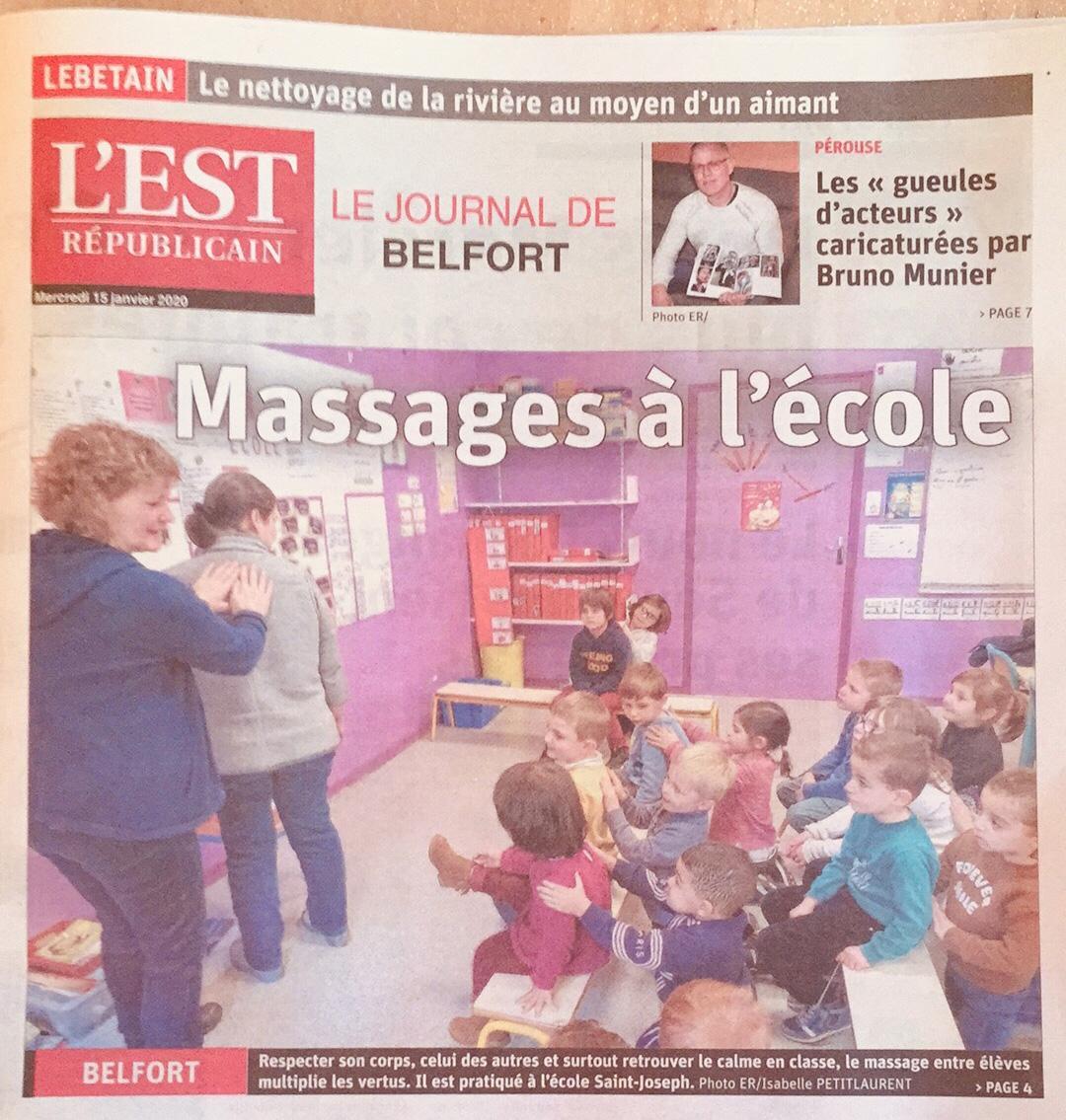 Massage à l'école ESSENTIEL en cette période